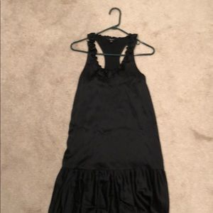 Silk black sundress
